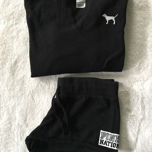 Women's VS Pink Nation Hoodie & Shorts